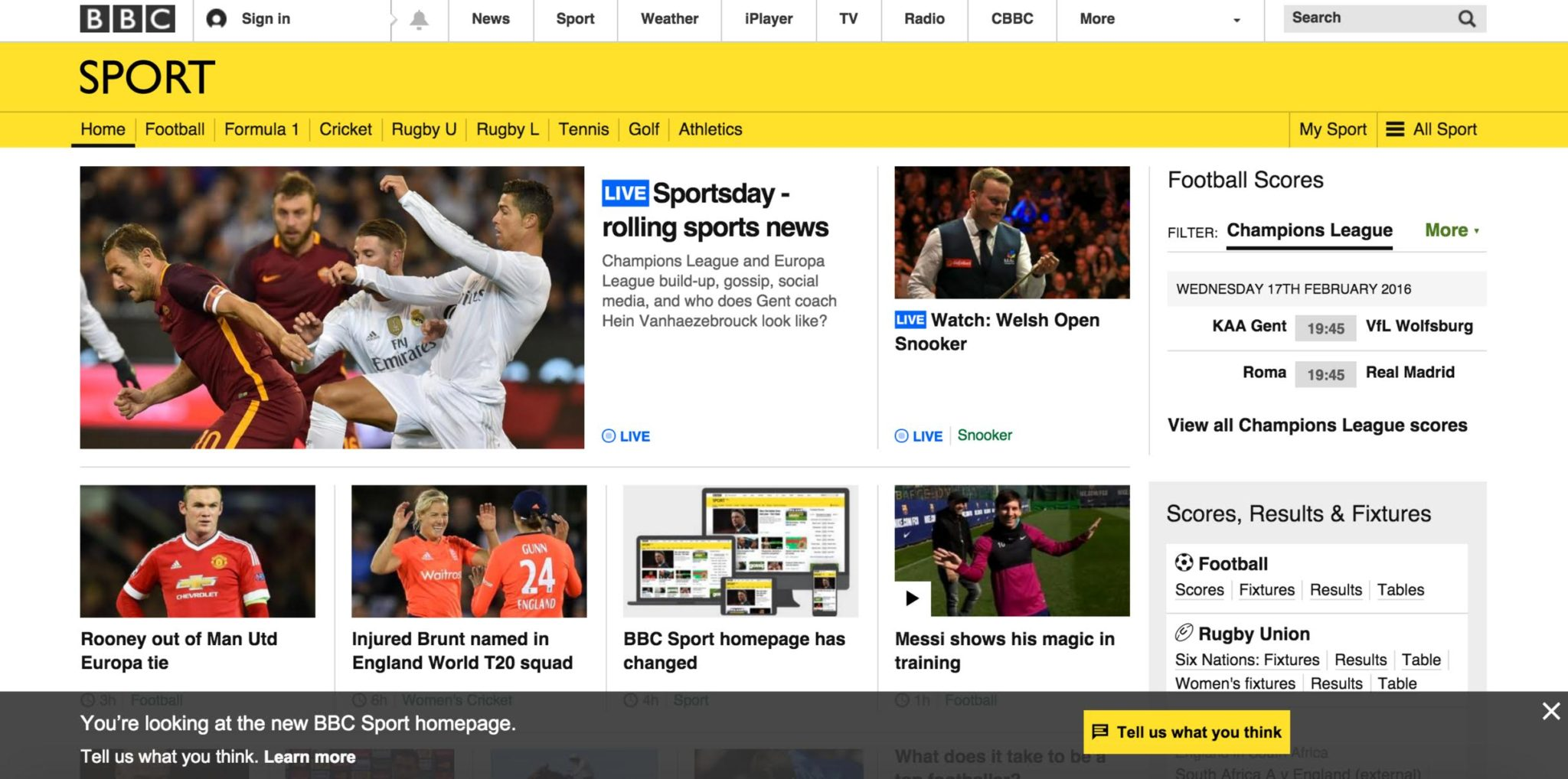 A Sporty New Look For BBC Sport